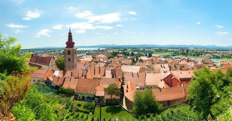 Ptuj - panorama z zamku