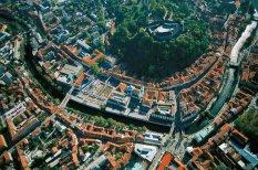 Lublana - widok z lotu ptaka, Słowenia