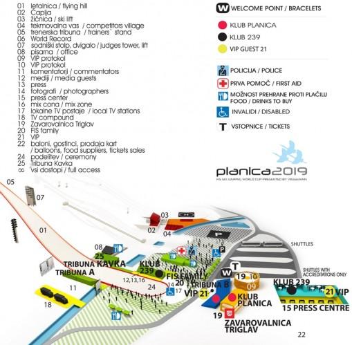 Planica - plan miejsca zawodów