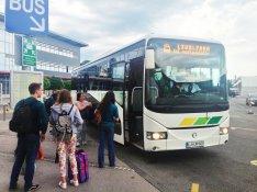 Autobus z lotniska do Lublany