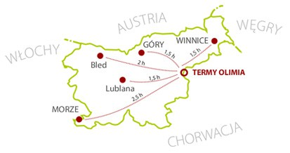 Termy Olimia - mapa