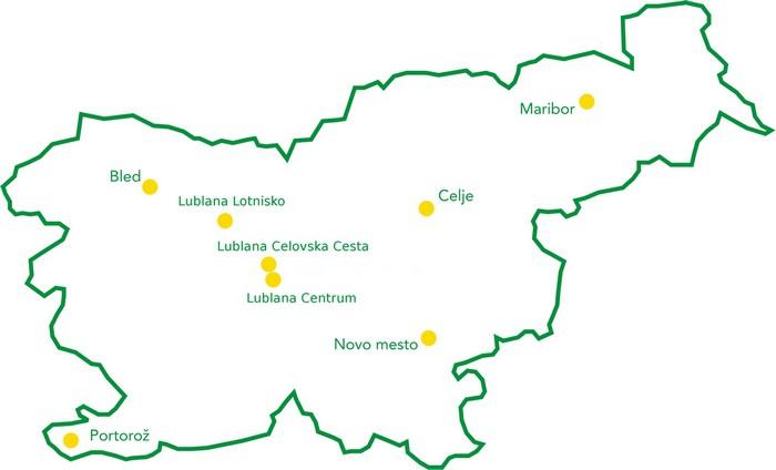 Europcar Słowenia Mapa