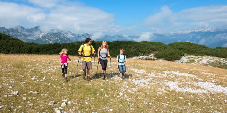 Rodzinny treking w Słowenii - Bohinj